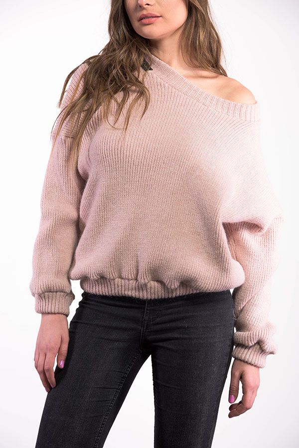 Powder pink sweater – Anita Pokrivač design